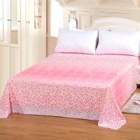 艾薇 床品家纺 双人床单单件纯棉被单1.5床/1.8床230*250(细叶丝语)