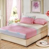 艾薇 床垫套保护罩双人加大40支纯棉斜纹防滑床笠1.8米床 小清新 180*200*25cm