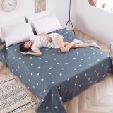 艾薇(AVIVI)床单单件纯棉40支斜纹印花被单加大单人床1.2床150 210方位