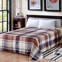 艾薇 床单家纺 纯棉被单 单人学生宿舍全棉床单 单件 悠悠情 1/1.2米床 150*210cm