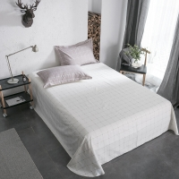 佳佰 床单 单件 床上用品 纯棉斜纹简约 品格宣言 适用1.8/2.0米双人床 加大(240*270)
