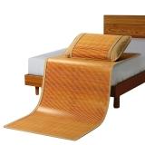 意尔嫚 凉席家纺 生态竹席双面单人竹藤两用席子0.9米 简约水墨席