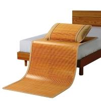 意爾嫚 涼席家紡 生態竹席雙面單人竹藤兩用席子0.9米 簡約水墨席