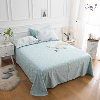 佳佰 床单 单件 床上用品 纯棉斜纹简约 叶叶情深 适用1.8米双人床(240*240)