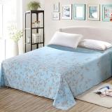 艾薇(AVIVI)床单单件纯棉40支斜纹大被单双人床1.5米床200 230(莫奈初晨)