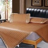 雅鹿·自由自在 凉席 床品家纺 夏季可折叠藤席空调席 御藤凉席子双人三件套 1.5米床 罗马格