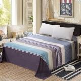 艾薇 床品家纺 单人床单单件纯棉被单1床/1.2床(西纳半岛152*210)