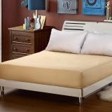 艾薇 床笠家纺 席梦思保护套床罩床垫套 防滑床单 米色 1.8米床 180*200cm