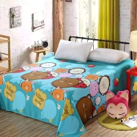 艾薇 床品家纺 单人床单单件纯棉卡通被单1床/1.2床(乐酷生活152*210)