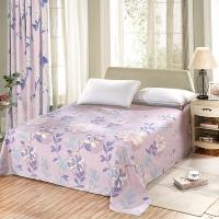 艾薇 床单家纺 纯棉被单 单人学生宿舍全棉床单 单件 欢乐颂 0.9/1米床 120*210cm