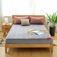 南极人 床笠家纺 加厚夹棉床笠床罩 可水洗床垫套防滑床垫保护套 灰色 180*200cm