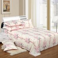 艾薇 床品家纺 双人床单单件纯棉被单1.5床/1.8床230*250(舒雅风情)