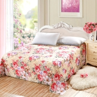 艾薇(AVIVI)床单单件纯棉40支斜纹印花大被单双人床1.5米/1.8米床230 250纷飞醉梦