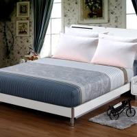 艾薇 床垫套保护罩双人加大40支纯棉斜纹防滑床笠1.8米床 遇见 180*200*25cm