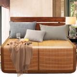 意爾嫚 涼席家紡 生態竹席雙面折疊雙人竹藤兩用席子1.5米 簡約水墨席