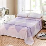 艾薇 床单家纺 纯棉被单 单人学生宿舍全棉床单 单件 清新世界 1/1.2米床 150*210cm