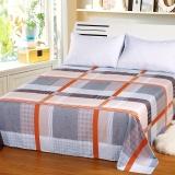 艾薇 床品家纺 单人床单单件纯棉被单1床/1.2床(格彩人生152*210)