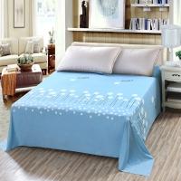 艾薇 床单家纺 纯棉被单 单人学生宿舍全棉床单 单件 图拉朵蓝 1/1.2米床 152*210cm