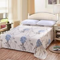 艾薇(AVIVI)床單單件純棉40支斜紋印花大被單雙人床1.5米/1.8米床230 250似水流年