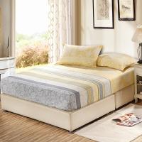 艾薇 床垫套保护罩双人40支纯棉斜纹防滑床笠1.5米床 美丽心情 150*200CM