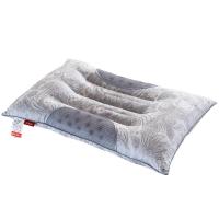 北极绒 枕头 枕芯 双排磁石决明子枕 酒店硬枕护颈椎枕 灰色 单只装