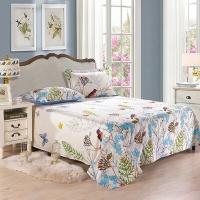 艾薇 床单家纺 全棉斜纹印花被单 双人纯棉床单 单件 晚晴 1.5/1.8米床 230*250cm
