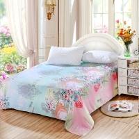 艾薇 床单家纺 纯棉被单 单人学生宿舍全棉床单 单件 艾尔文 1/1.2米床 150*210cm
