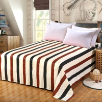艾薇 床品家纺 双人床单单件纯棉被单1.5米/1.8米床230*250(裸婚时代)
