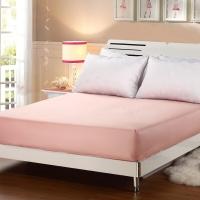 艾薇 床笠家纺 席梦思保护套床罩床垫套 防滑床单 粉色 1.8米床 180*200cm