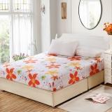 艾薇 床垫套保护罩双人40支纯棉斜纹防滑床笠1.5米床 星缘 150*200CM