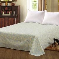 艾薇 床单家纺 纯棉被单 单人学生宿舍全棉床单 单件 风玲叶 1/1.2米床 152*210cm