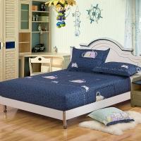 艾薇家紡 雙人床笠單件純棉床墊套防滑床單1.5床(貓寵寶貝150*200*25)