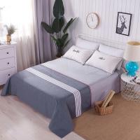 艾薇 床单家纺 全棉斜纹印花床单 纯棉床单 单件 华尔兹 1.5米/1.8米床 230*250cm