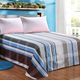 艾薇 床品家纺 单人床单单件纯棉被单1床/1.2床(时尚前线152*210)