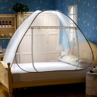 北極絨 Bejirog 蚊帳 免安裝折疊鋼絲蚊帳加密簡易安裝 1.5米床