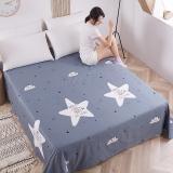 艾薇 床单家纺  纯棉被单 双人加大柔软全棉床单 单件 星海恋灰 1.5/1.8米床 230*250cm