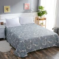 南极人 床单家纺 全棉印花床上用品 双人纯棉床单 似水流年 230*245cm