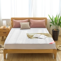 南極人 床笠家紡 加厚夾棉床笠床罩 可水洗床墊套防滑床墊保護套 白色 120*200cm