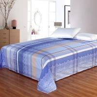 艾薇家纺 双人床单单件纯棉被单1.5床/1.8床230*250(时尚情怀蓝)