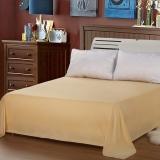 艾薇 床单家纺 纯棉被单 双人加大柔软全棉床单 单件 米色 1.5/1.8米床 245*250cm