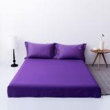 佳佰 床单 单件 床上用品 全棉贡缎60支纯色简约时尚 优雅紫 适用2.0米双人床(245*270)