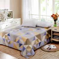 艾薇(AVIVI)床单单件纯棉40支斜纹印花被单加大单人床1.2床150 210(幸运时代)