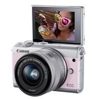 佳能微单(Canon)EOS M100(15-45镜头粉色套机)(2420万像素 触控翻转LCD 全像素双核对焦)