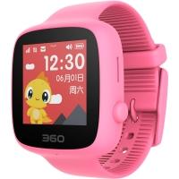 360儿童电话手表 彩色触屏版 防丢防水GPS定位 儿童手机 360儿童手表SE 2代 W608 智能彩屏电话手表 樱花粉
