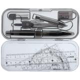 晨光(M&G)ACS90807考试圆规直尺三角尺子量角器绘图组合套装8件套
