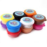 得力(deli)6463 12色儿童创意彩泥轻型粘土 单色3桶 36桶/盒(混)