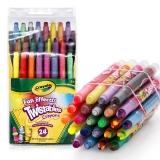 绘儿乐 Crayola 24色迷你可拧转蜡笔 52-9824