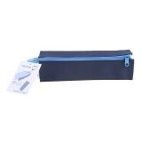 国誉(KOKUYO)日本进口学生便携收纳笔袋 C2对开式扩展型 深蓝+浅蓝F-VBF122-1