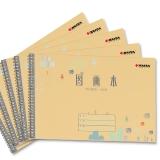 凯萨(KAISA)小图画本线圈绘画簿100g加厚纸儿童涂鸦本5本装 36K 24页