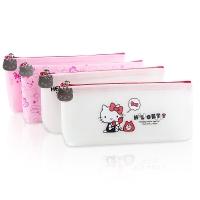 广博(GuangBo)硅胶果冻船型铅笔袋文具袋/学生用品 凯蒂猫图案随机 单个装KT85011